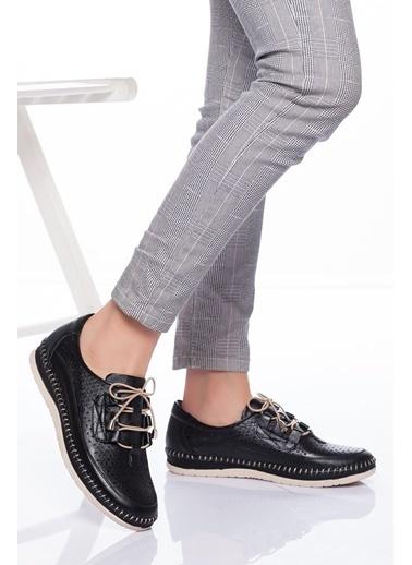 Derithy Hakiki Deri Ayakkabı Siyah